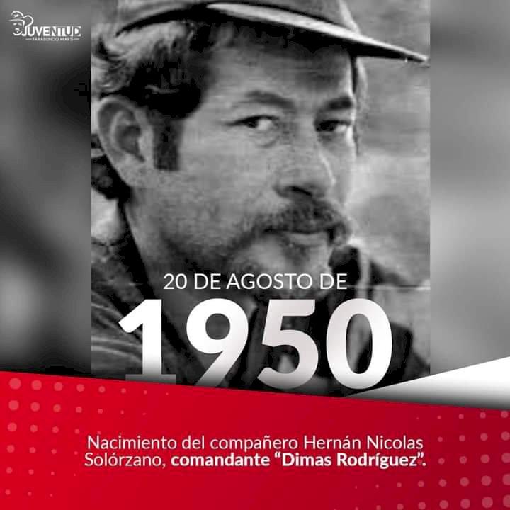 Hasta la victoria siempre comandante Dimas Rodríguez