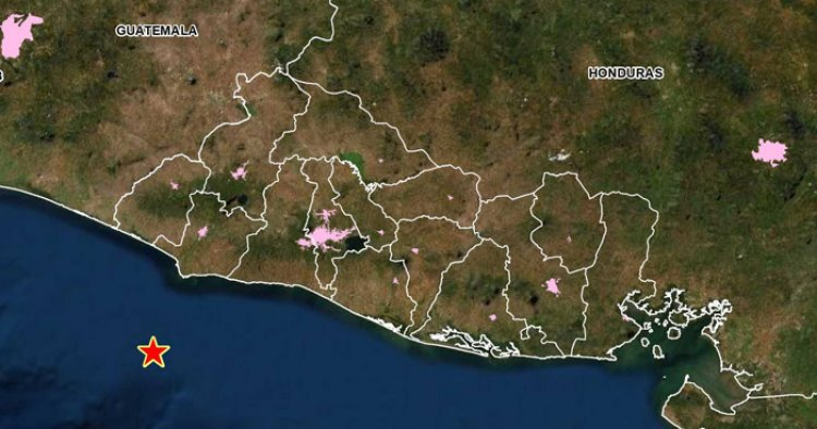 Sismo de 3.7 sacudió esta tarde la costa de Sonsonate